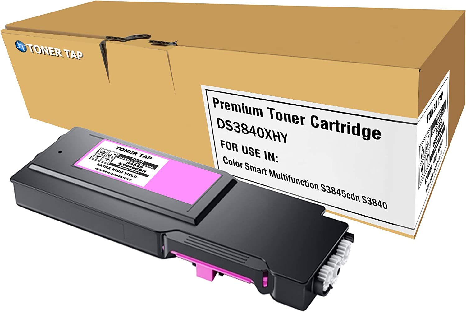 S3845cdnHigh Yield On-Site Laser Compatible Toner Replacement for Dell 593-BCBE Magenta Works with: S3840cdn