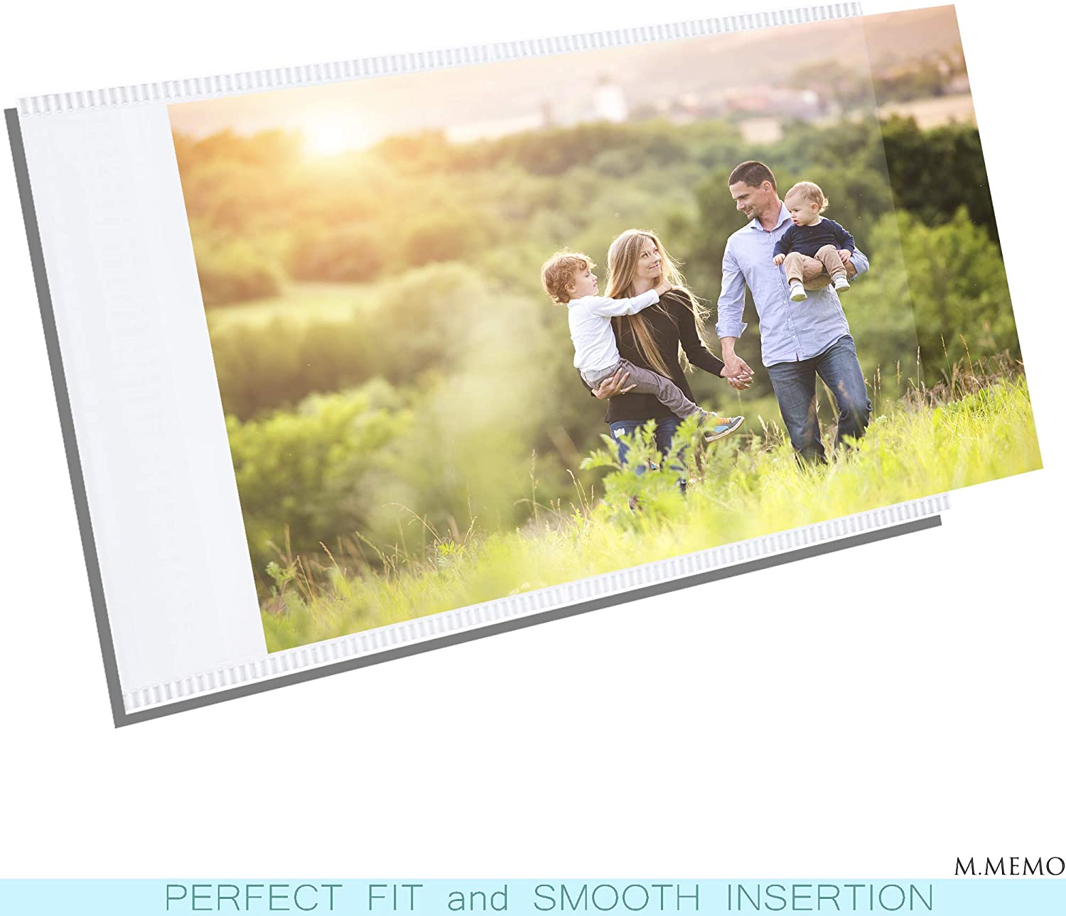 M.Memo 10 Pack 4x6 Premium Super Slim Magnetic Picture Pockets Frames Holds 4 x 6 inches Photo for Refrigerator