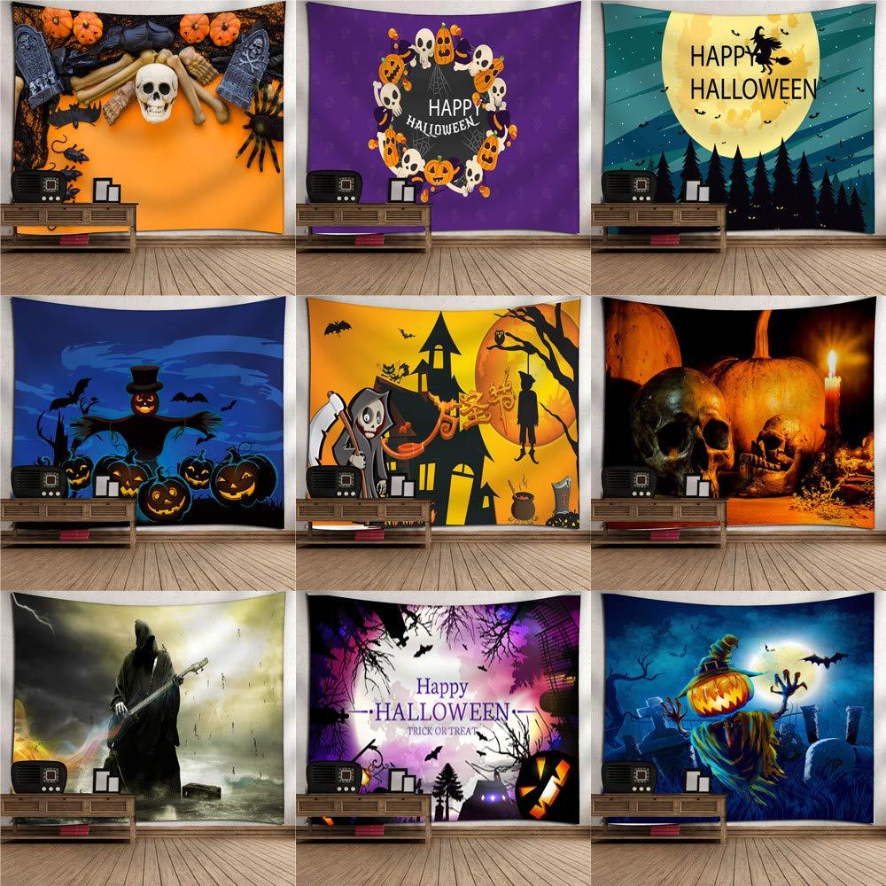 YJYDADA - Colcha de Halloween, diseño de Calabaza con Texto ...