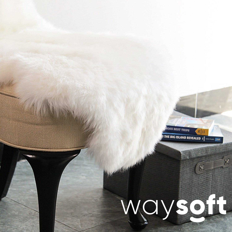 Sheepskin Rug Look: WaySoft(TM) Eco-Friendly Ivory New Zealand/Australia