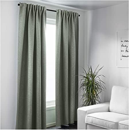 Ikea Vilborg Coppia Di Tende In Verde 145 X 300 Cm Amazon It