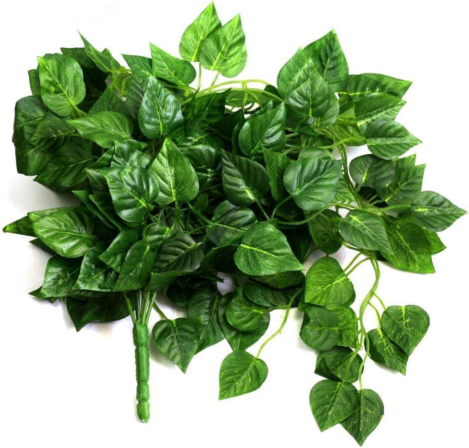 AKORD Feuilles artificielles /à Suspendre Vert Leaves Tissu