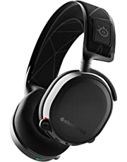SteelSeries Arctis 7 Edición 2019 - Auriculares de juego - inalámbricos sin pérdidas, DTS Headphone:X v2.0 Surround para PC y PlayStation 4, Negro