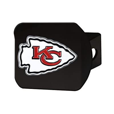 """FANMATS NFL Kansas City Chiefs Metal Hitch Cover, Black, 2"""" Square Type III Hitch Cover: Automotive"""