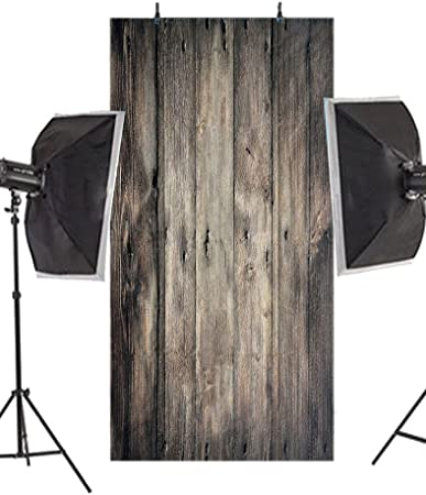Lelinta Wooden Floor Wooden Wall Photography Background Studio Props Photo Booth
