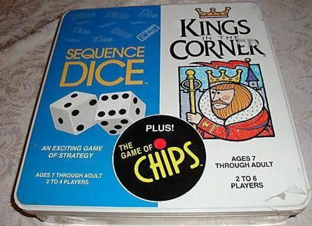 Kings in the Corner & Sequence Dice game & The Game of Chips ...