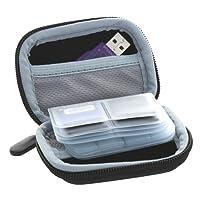 Speicherkarten Tragetasche - Geeignet für SD SDHC Micro-SD Cards Nano / Micro Sim Karten SD-Karten Tasche Aufbewahrung - schwarz