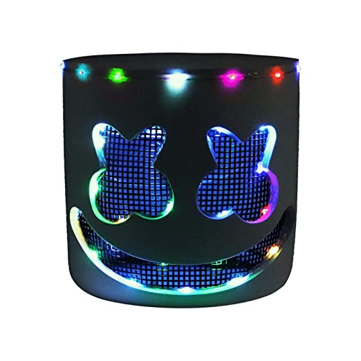 Other Dj Equipment Dj Led Marshmello Helmet Adult Cosplay Costume Mask Bar Party Props Multicolor Musical Instruments & Gear