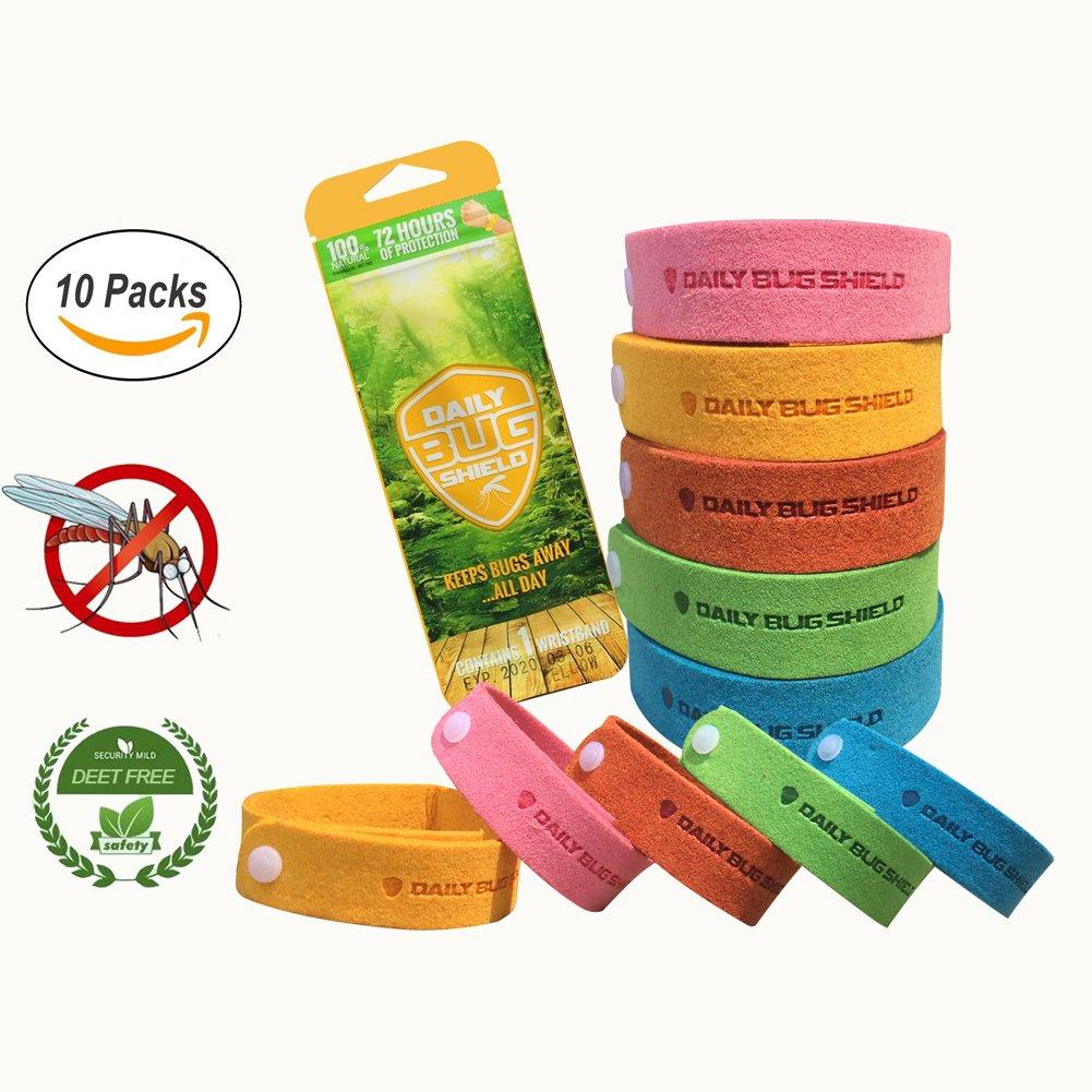 Mosquito Repellent Bracelets 10 Packs Microfiber Mosquito Repellent Wristbands All Natural Bug Repellent Bands Deet Free Kiveta