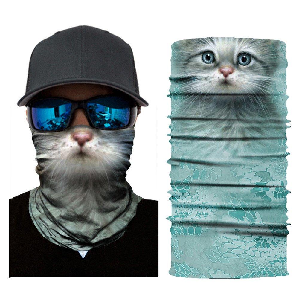 OWMEOT Stretchable Face Shield Mask Guards Balaclava Headwear for Camping,Running,Cycling, Biking, Motorcycling,Fishing,Hunting,Yard Working and Sun UV Protection (C)