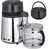 Mophorn Water Distillers Countertop 1.1 Gal/4L Stainless Steel Purifier Filter Machine 750W, with Handle Food-Grade…
