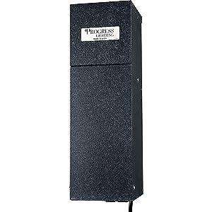 Progress Lighting P8523-31 600 Watt Transformer with Plug-Ins, Black