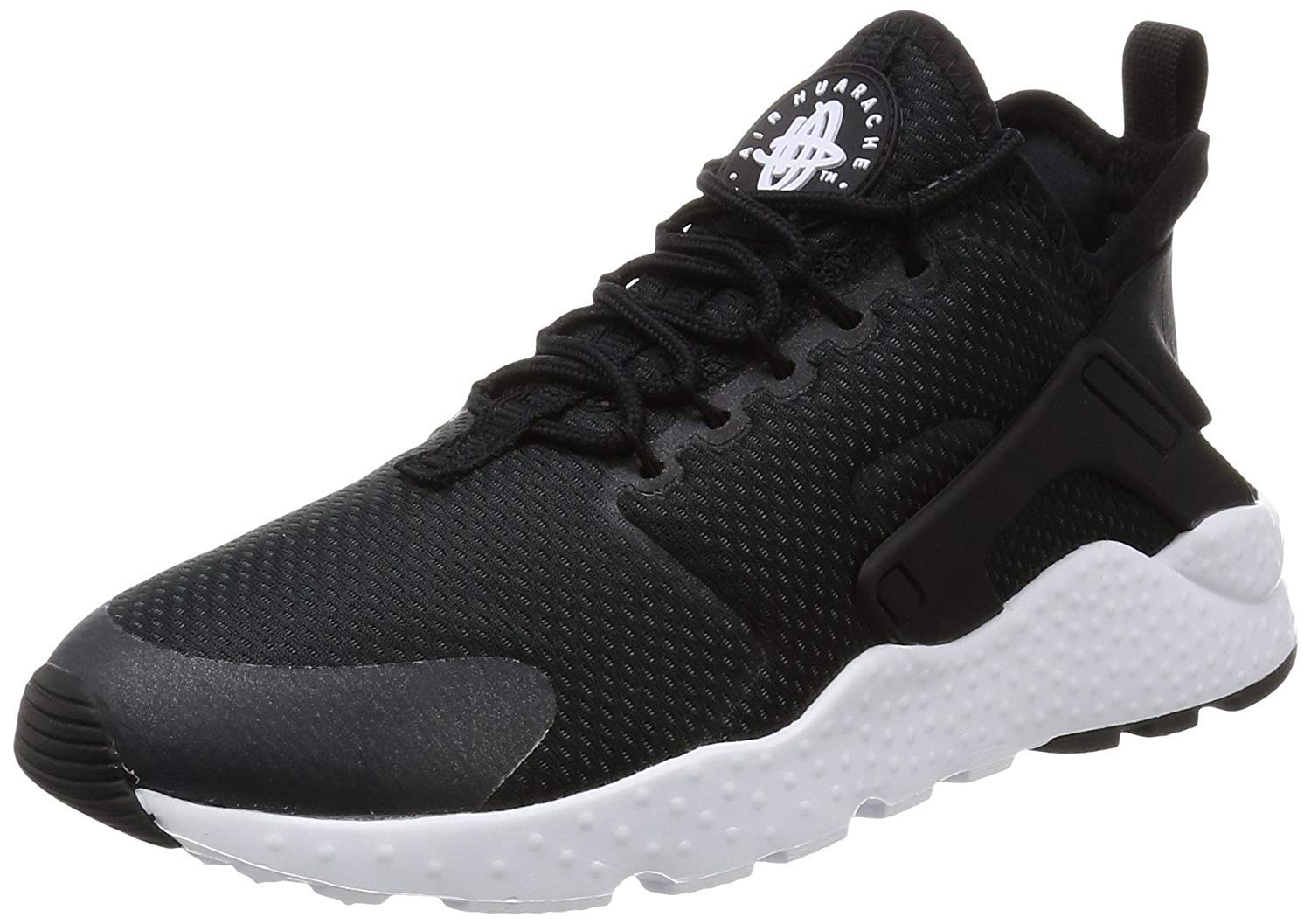 543d06821c Galleon - NIKE Womens Air Huarache Run Ultra Low Top Lace Up, Black/White,  Size 12.0