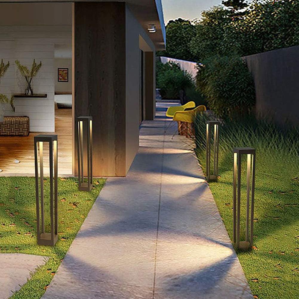 LEDMO Farolas jardin exterior, Baliza led 9W, Luz de camino exterior de aluminio, IP65 impermeable, 1000lm, 3000K blanco cálido Lámpara de jardín Poste: Amazon.es: Iluminación