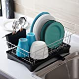 Dish Rack Stainless Steel 304, Housen Solutions Dish Drying Rack with Drainboard Set