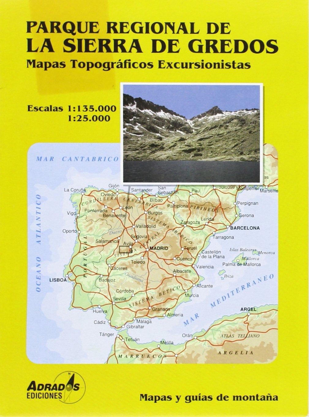 Parque regional de la Sierra de Gredos. Mapa excursionista ...