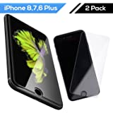 iPhone 8 Plus iPhone 7 Plus Tempered Glass Screen Protector 2.5D (2 Pack) - Apple iPhone 6 Plus 6s Plus Screen Protector Glass, Shatter-Resistant 9H 3D Touch, Bubble Free Anti-Scratch HD Glass - iHard