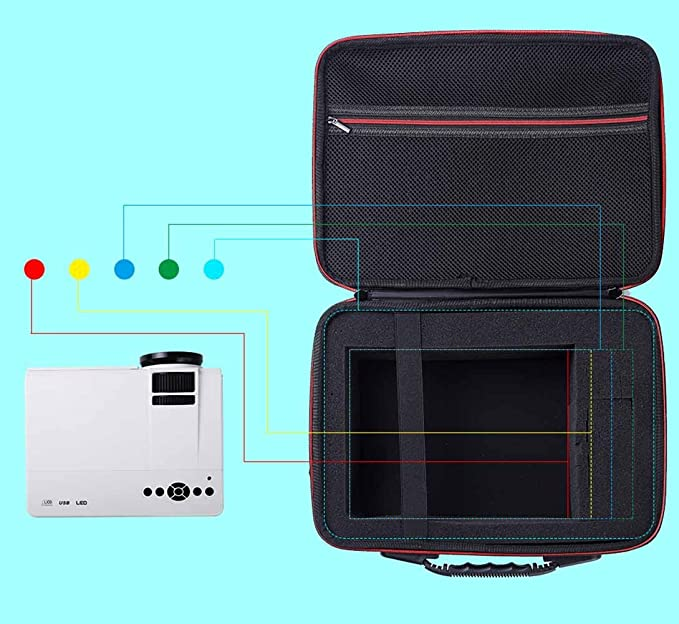 NiceCool Duro Estuche de Viaje para DBPower T20 1500 lúmenes LCD ...