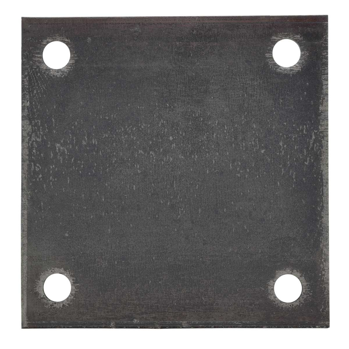 6'' x 6'' x 1/4'' Hot Rolled A36 Steel Base Plate with (4) 9/16'' Holes for 1/2'' Bolts - Custom Fabricated by Joseph Fazzio Inc