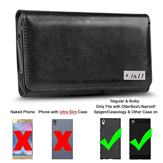 quality design 28990 fe2ef J&D Holster Compatible for Xperia XA1 Ultra Holster with Belt Clip, PU  Leather Holster Pouch and ID Wallet Case for Sony Xperia XA1 Ultra Case  (Only ...