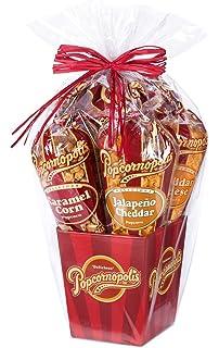 Amazon popcornopolis 7 large cones variety popcorn gift basket popcornopolis gourmet popcorn 5 cone gift basket classic negle Image collections