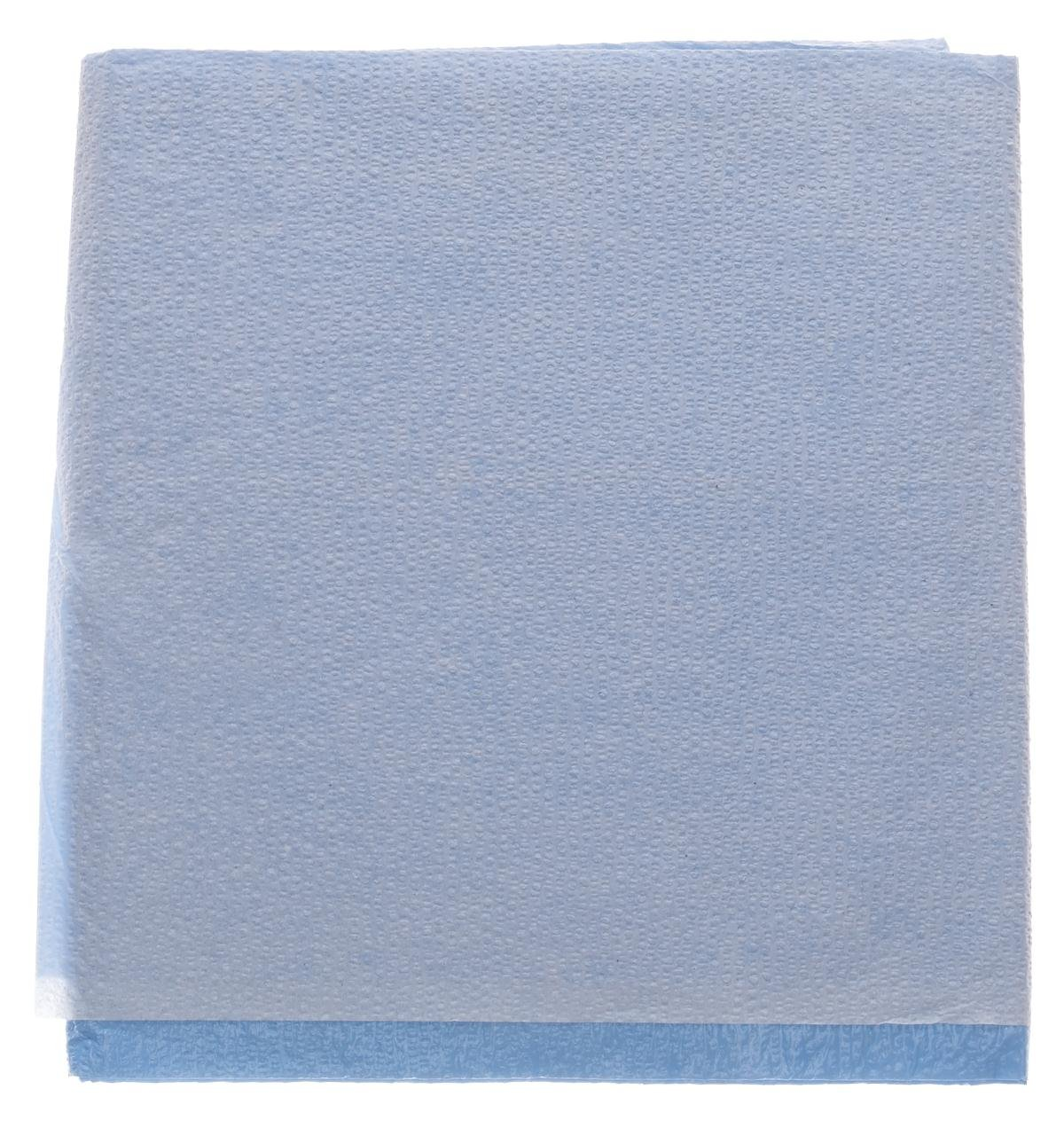 Medline NON24333 Disposable Tissue/Poly Flat Stretcher Sheets, 40'' x 72'', Blue (Pack of 50) by Medline (Image #1)