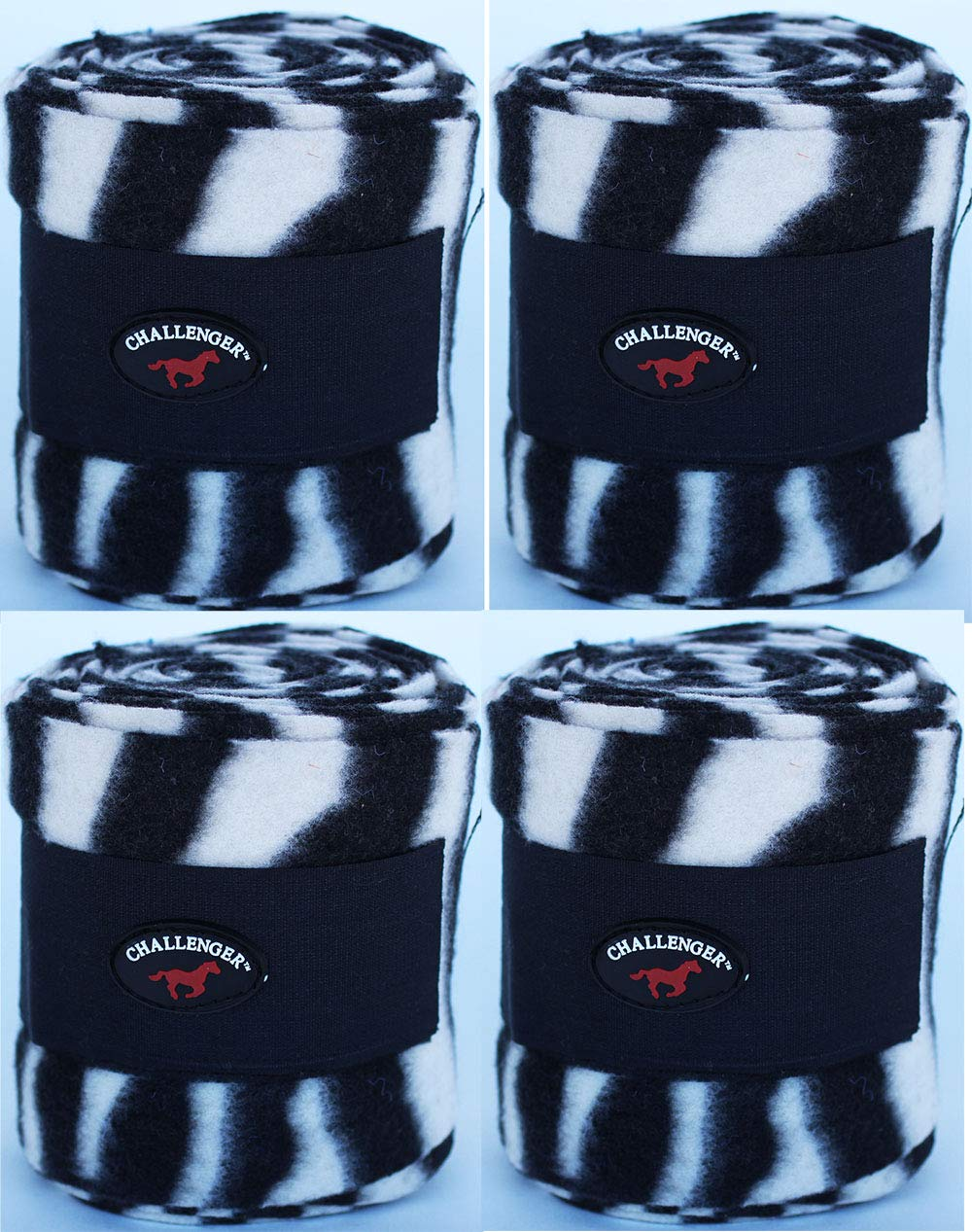 CHALLENGER Horse Tack Grooming Leg Set of 4 Polo Wrap 95R24 by CHALLENGER