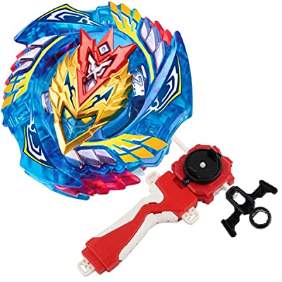 Bey Burst Evolution Turbo Battling Top Blade God Bey & Lr Launcher Grip Spryzen Starter Set B-127 Booster Cho-Z Valkyrie.Z.EV Attack Gyro Bay Battle Kit Gaming Tops Novelty Spinning Toy Gift for Boy: Toys & Games