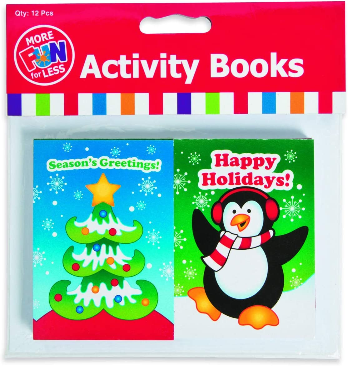 12 Holiday Christmas Party Favors Fun /& Game Activity Books