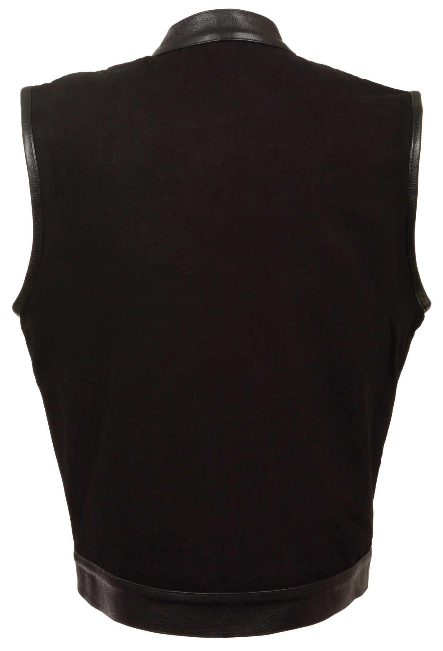 The Ultimate One Stop Shop for All Club Style Zipper Front Vests - All Varieties of Club Cut Vests Leather & Denim (4X - Big, Leather Trim) by Milwaukee (Image #2)