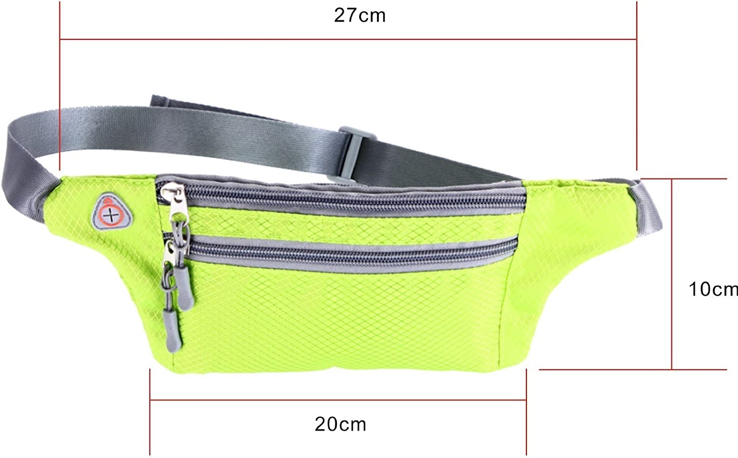 Elonglin Unisex Running Belt Waist Pack Belt Fitness Belts Waterproof Sweat-Resistant for All Mobile Phones 4-6 inch Zipped Pocket with Headphone Hole Traveling Hiking Jogging Walking Gym Yoga Cycling