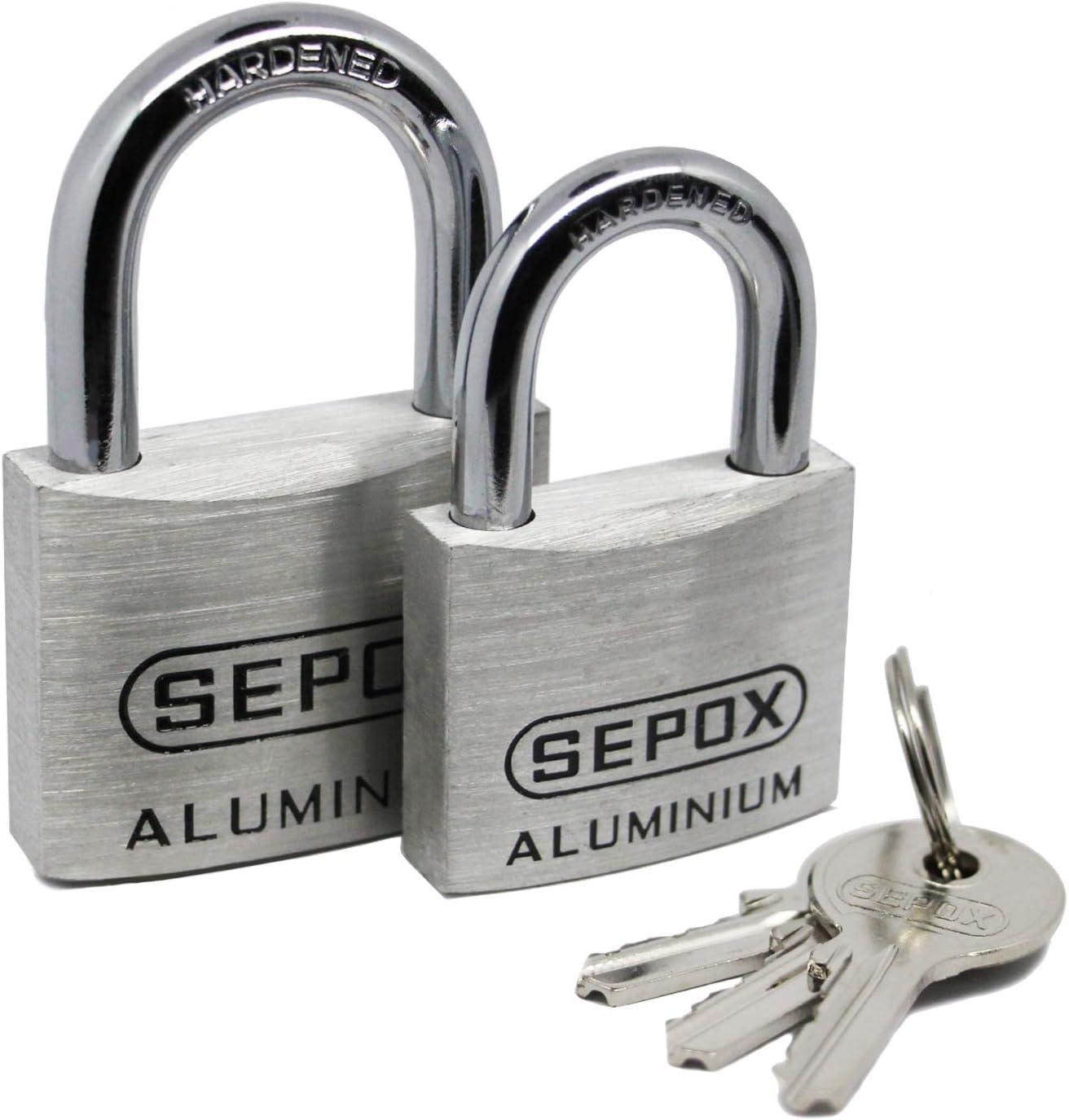 SEPOX Cadenas en alliage daluminium avec cl/és identiques 60mm*2