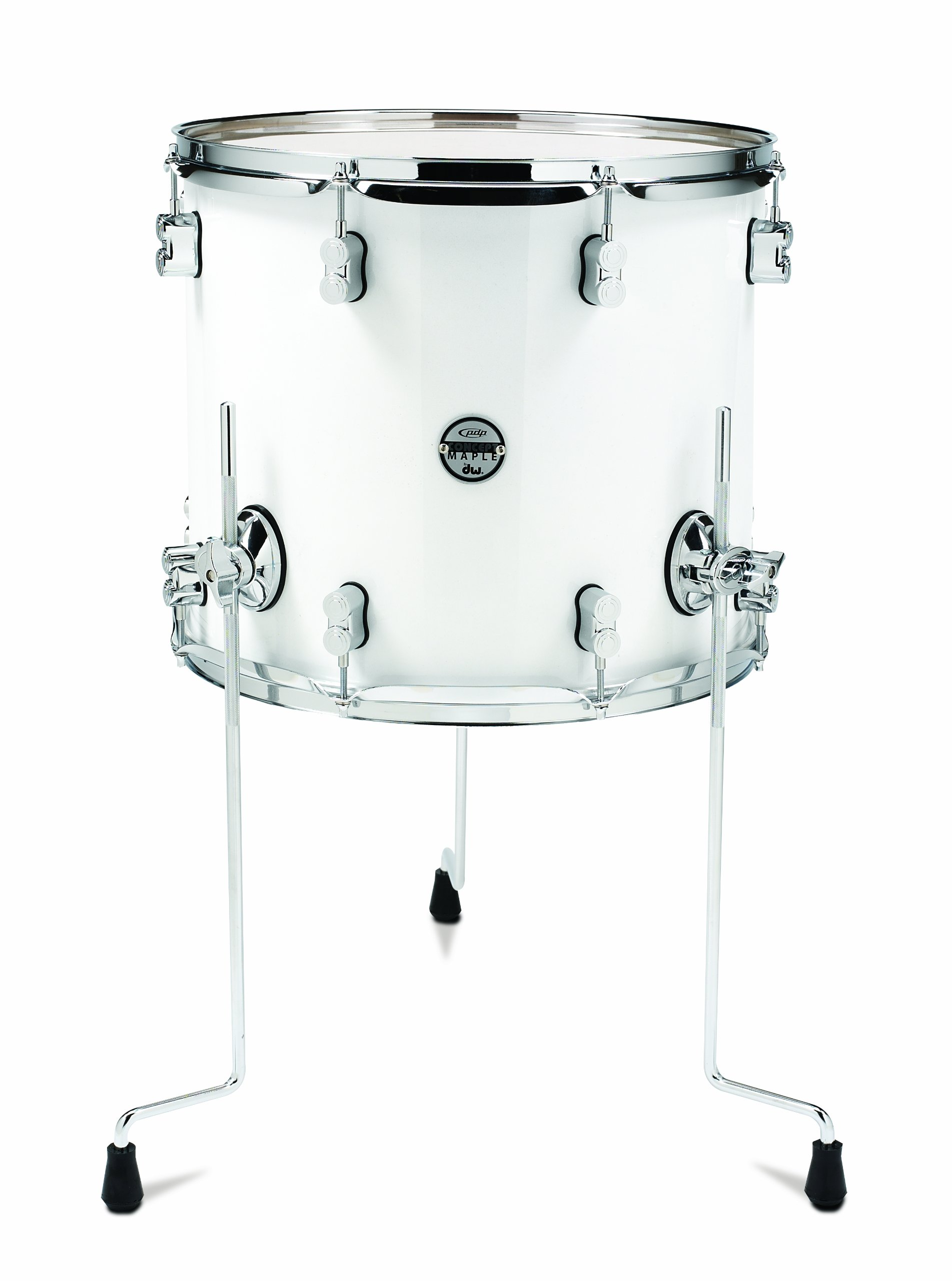 Pacific Drums PDCM1618TTPW 16 x 18 Inches Floor Tom with Chrome Hardware - Pearlescent White by Pacific Drums