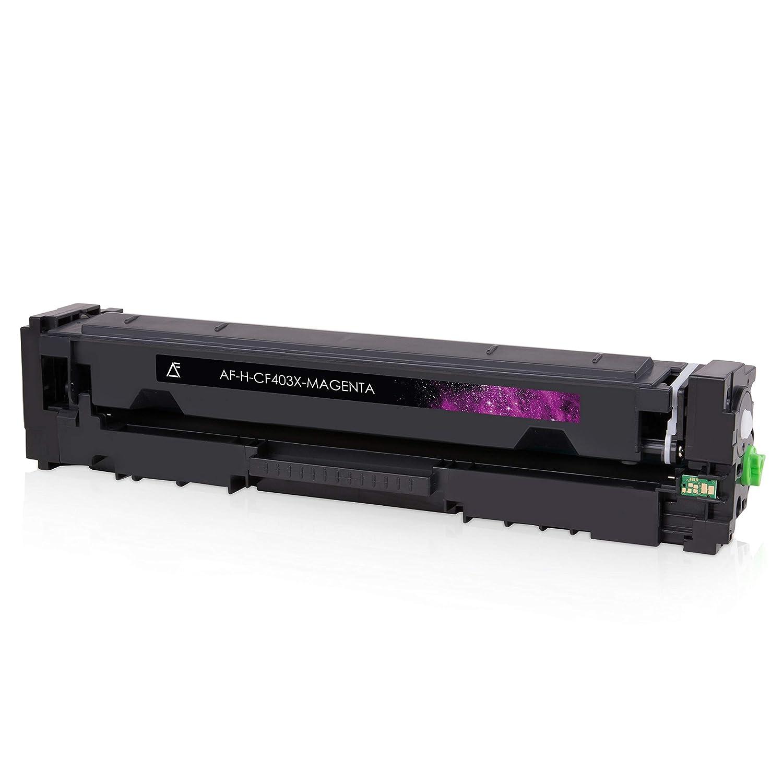 201X Schwarz 2.800 Seiten 4 Alphafax Toner kompatibel zu HP CF400X CF401X CF402X CF403X 201X f/ür Laserjet Pro MFP M277dw M277n M252dw M250 Series Color je 2.300 Seiten