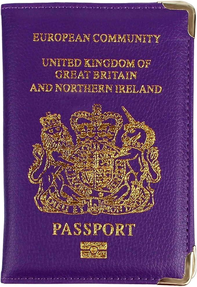 Lillyvale - Funda de pasaporte Morado morado: Amazon.es: Equipaje