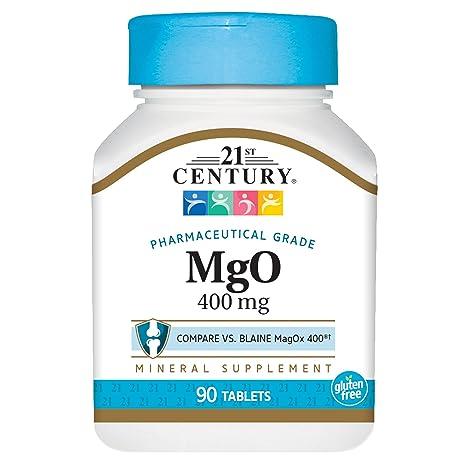 21st Century Health Care, MgO, Óxido de Magnesio - 400mg x90tabs