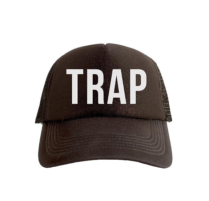 Trap Cool Swag Hip Hop impresión Trucker Sombrero Gorra Tapa Negro: Amazon.es: Ropa y accesorios