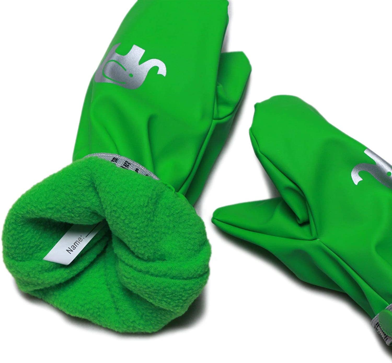 Gr/ün, 1 CELAVI Unisex gepolsterte PU Kinderhandschuhe