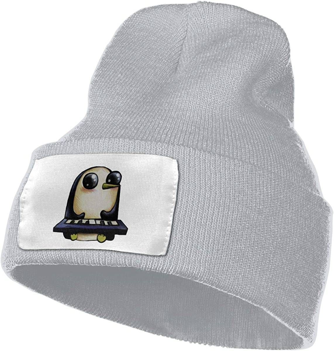 Adults Play Piano Penguin Elastic Knitted Beanie Cap Winter Warm Skull Hats