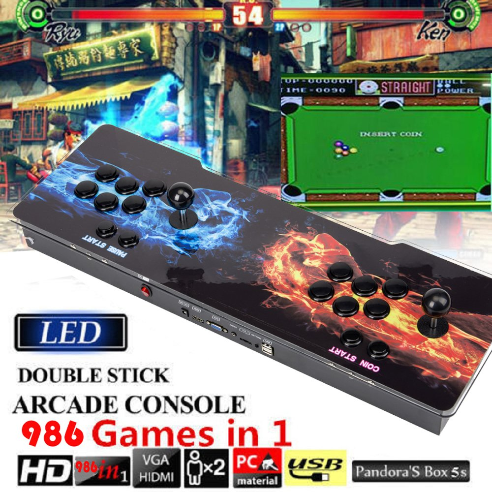 STLY Arcade Fever 2 Player Arcade Game Console 986 Games in 1 Pandora's Box 5S With HDMI & VGA Output