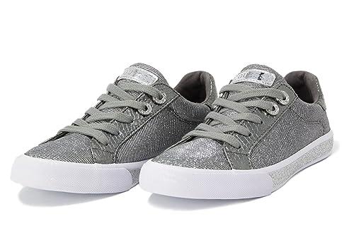GUESS Meggie FLMEG1 FAM12 Silve FLMEG1FAM12SILVE: Amazon.es: Zapatos y complementos