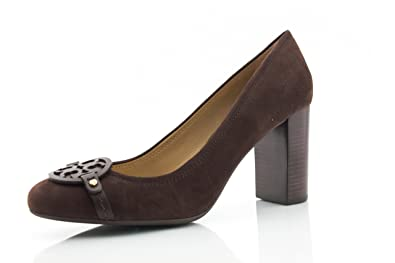 bc8fa3dbaf00 Tory Burch Mini Miller 85MM Pump Heel Lancaster Suede Brown Coconut (9.5)
