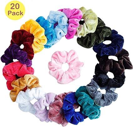 Scrunchies Terciopelo, 20 Piezas Velvet Elástico Hair Scrunchies ...