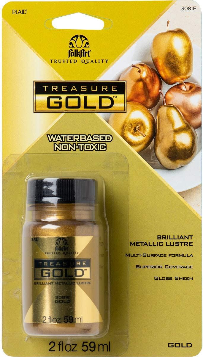 FolkArt Gold Treasure Paint 2oz 16 Fl Oz