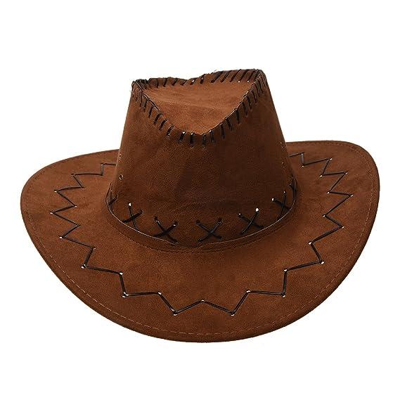 Sombrero - SODIAL(R)Retro Unisex Sombreros accesorio del vestido de lujo de  Rodeo de vaqueros de Oeste Salvaje de Mezclilla cafe claro  Amazon.es  Ropa  y ... 9d907f47a87