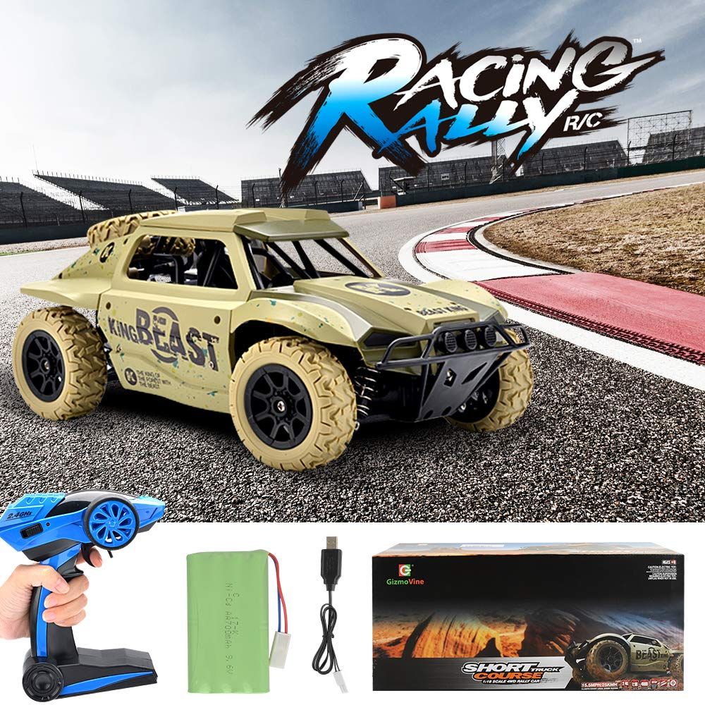 Gizmovine Remote Control Cars 4WD Large Size High Speed 15.5 MPH+ Racing Rc Cars Off Road for Kids and Adults , 2019 Version (Khaki) by Gizmovine (Image #6)