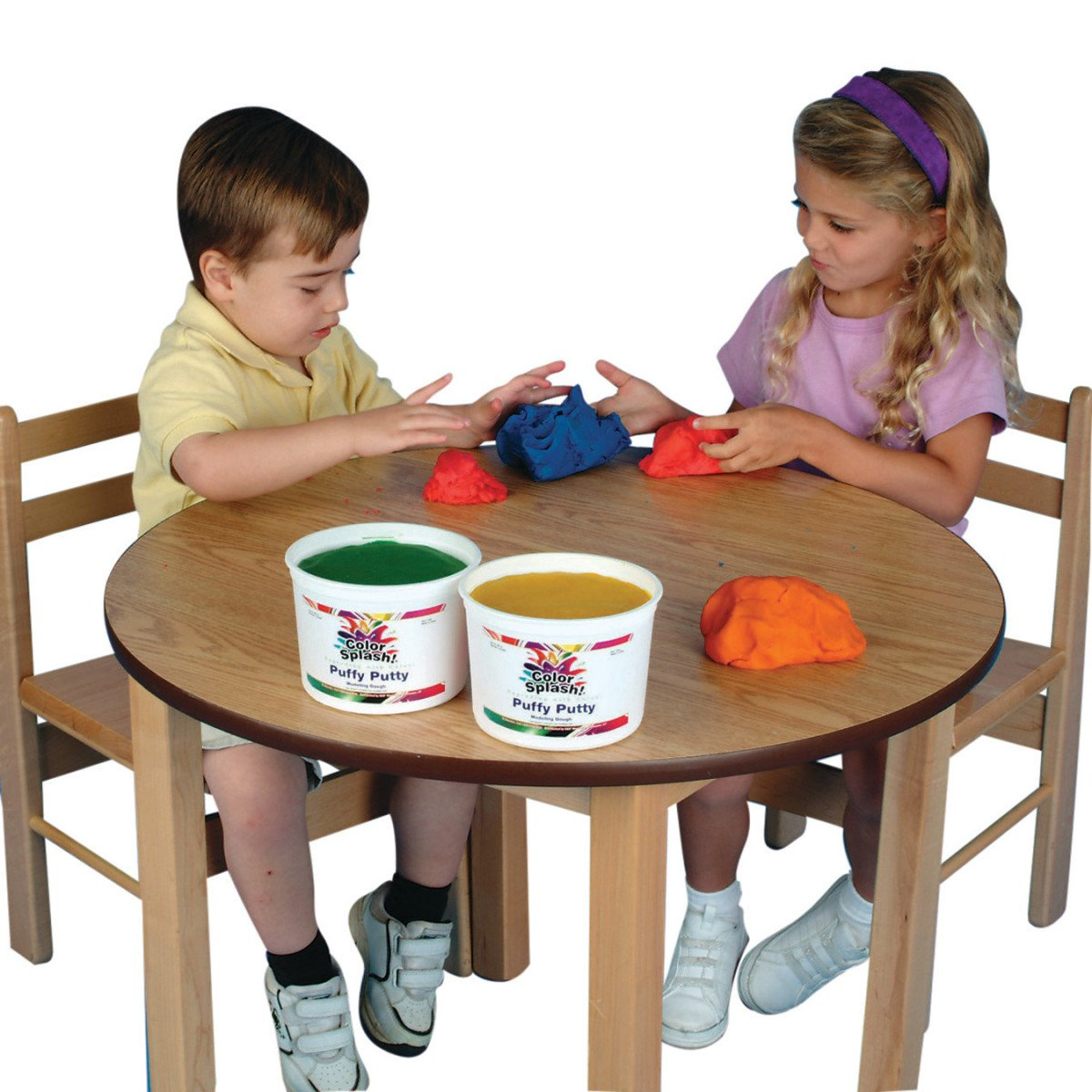 S S Worldwide Color Splash Dough set of 6