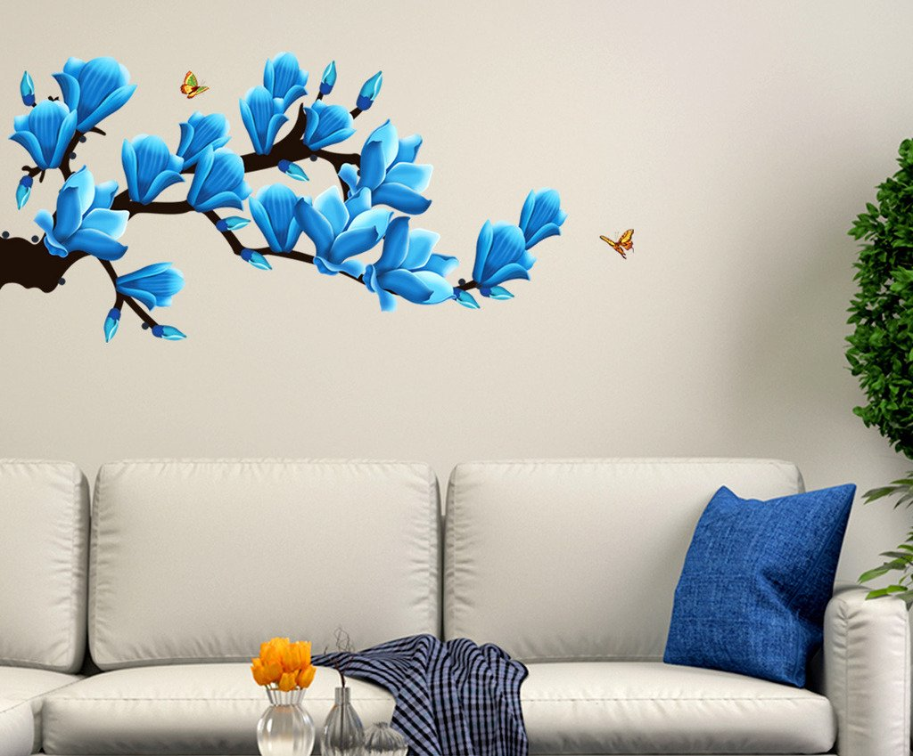 Buy Decals Design \'Floral Branch with Realistic Flowers\' Wall ...