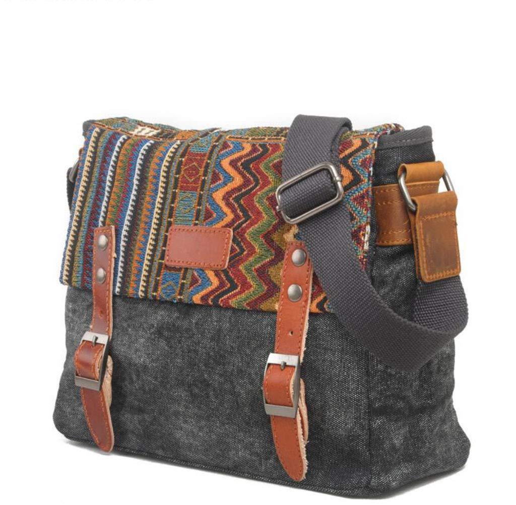 DABUOT Retro-Schultertasche Ethnischen Stil Tasche Diagonal Cross-Beutel Lässige Tasche Stil Schultertasche Männer Tasche Handtasche,Khaki 60c00e