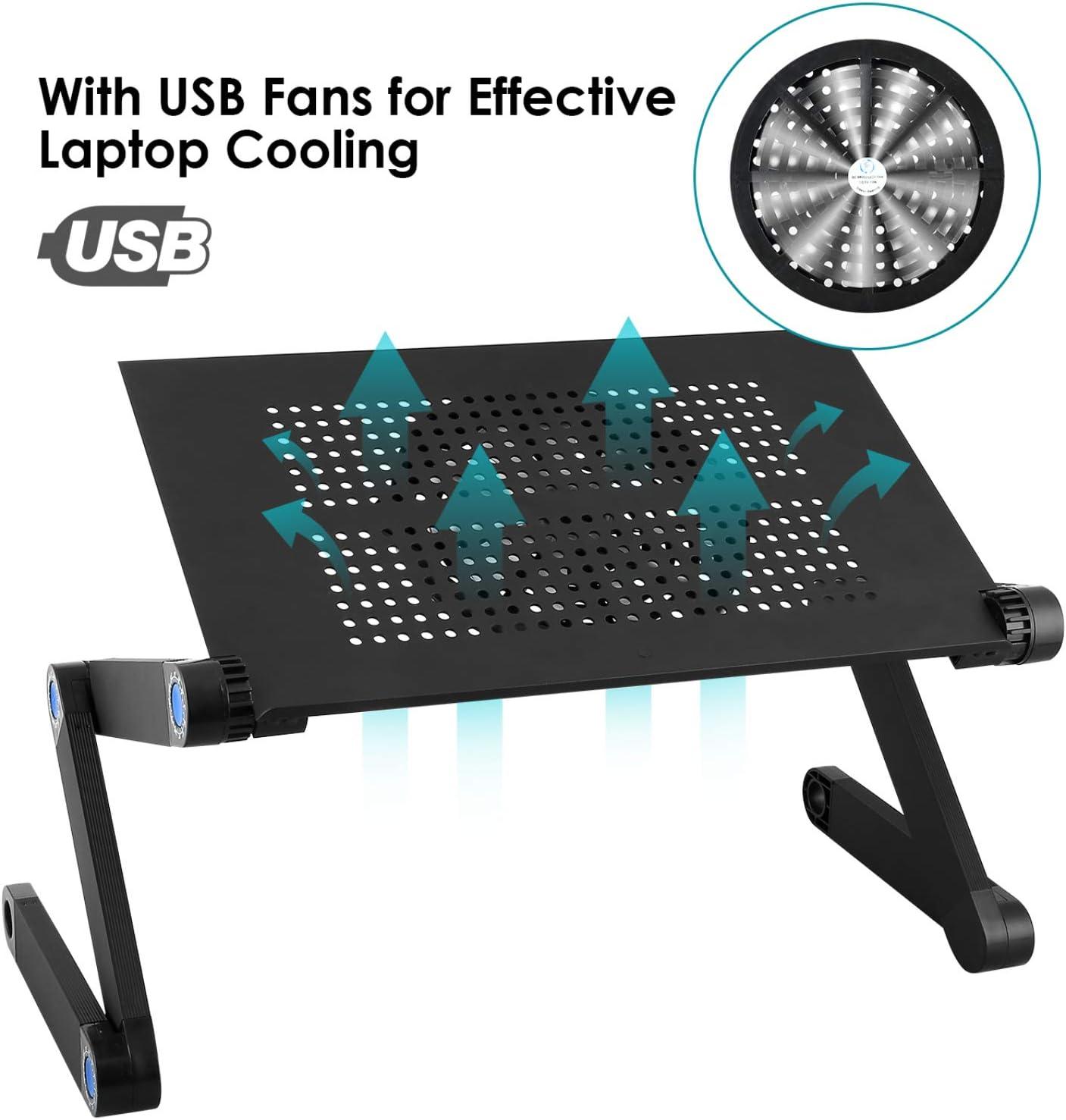 360° Laptoptisch Faltbar Notebooktisch Laptopständer Betttisch Schreibtisch